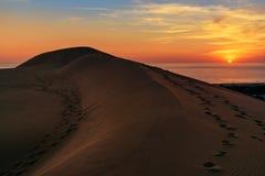Sand dunes on Patara beach at sunset. Turkey Stock Photo