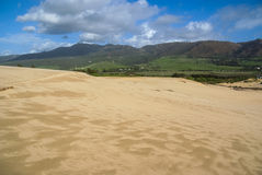 Sand dunes at Punta de la Paloma, Andalucia, Spain Stock Images