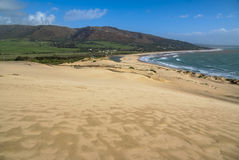 Sand dunes at Punta de la Paloma, Andalucia, Spain Stock Photography