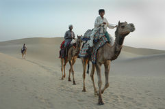 Sand dunes in Rajasthan Stock Photos