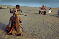 Sand dunes in Rajasthan Royalty Free Stock Image
