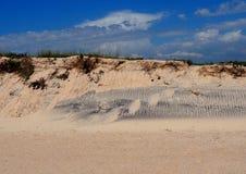 Sand Dunes With Ripples On Ilha Da Culatra Portugal royalty free stock image