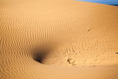 Sand Dunes Ripples Stock Image