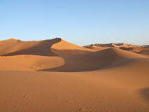 Sand Dunes of Sahara Royalty Free Stock Photography