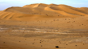 Sand dunes of the Sahara desert Royalty Free Stock Images