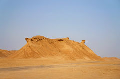 Sand dunes in the Sahara desert Royalty Free Stock Images