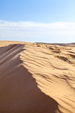 Sand dunes in Sahara desert Royalty Free Stock Photos