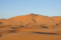 Sand dunes in the Sahara desert Royalty Free Stock Image