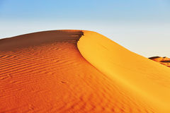 Sand dunes in the Sahara Desert Stock Photo