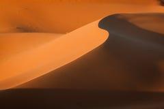 Sand dunes in the Sahara Desert, Merzouga, Morocco.  Stock Images
