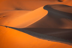 Sand Dunes in the Sahara Desert, Merzouga, Morocco Stock Image