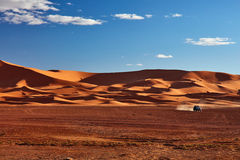 Sand dunes in the Sahara Desert. Merzouga, Morocco Stock Images