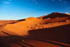 Sand dunes in the Sahara Desert Royalty Free Stock Photo
