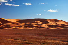 Sand dunes in the Sahara Desert, Merzouga Stock Image