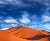 Sand dunes in Sahara desert in Morocco Royalty Free Stock Image