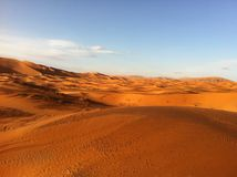 Sand dunes in the Sahara Royalty Free Stock Photo