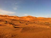 Sand dunes in the Sahara Stock Photo