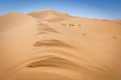 Sand dunes of Sahara. Desert near Merzouga, Morocco Stock Photo