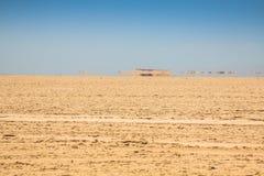 Sand dunes of Sahara desert near Ong Jemel in Tozeur,Tunisia. Royalty Free Stock Images