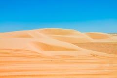Sand dunes of Sahara desert near Ong Jemel in Tozeur,Tunisia. Stock Photography