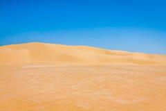Sand dunes of Sahara desert near Ong Jemel in Tozeur,Tunisia. Royalty Free Stock Photography