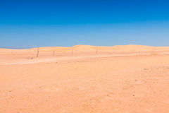 Sand dunes of Sahara desert near Ong Jemel in Tozeur,Tunisia. Stock Image