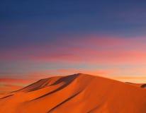 Sand dunes in Sahara desert Royalty Free Stock Photos