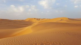 The sand dunes of the Sahara royalty free stock photo