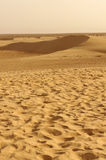 Sand dunes in the Sahara desert of Tunisia Royalty Free Stock Image