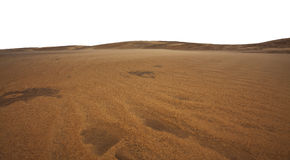Sand dunes and sand formations in the desert Stock Images