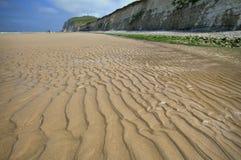 Sand dunes on sea coast, France Royalty Free Stock Images