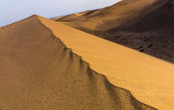 Sand dunes shapes and patterns Royalty Free Stock Image