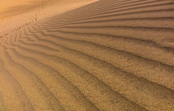 Sand dunes shapes and patterns Stock Image