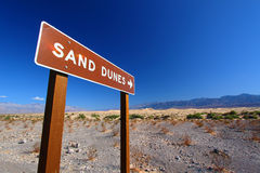 Sand Dunes Sign Stock Photo