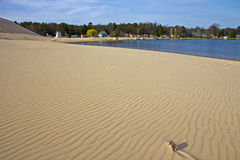 Sand Dunes beside Silver Lake Stock Images