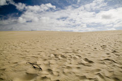 Sand Dunes and Sky. Large coastal sand dunes in Australia stock photos
