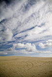 Sand Dunes and Sky Stock Photo