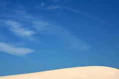 Sand Dunes and Sky Stock Image