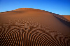The sand dunes at Sossusvlei, Namibia Royalty Free Stock Photography