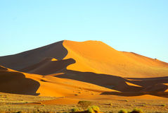 Southern african landscapes. Sand dunes at Soussousvlei, Namibia Stock Photos