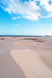 Sand dunes in Stero, 4x4, excursion, Aomak beach protected area, Socotra island, Yemen Royalty Free Stock Image