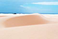 Sand dunes in Stero, 4x4, excursion, Aomak beach protected area, Socotra island, Yemen Stock Photo