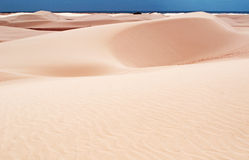 Sand dunes in Stero, 4x4, excursion, Aomak beach protected area, Socotra island, Yemen Royalty Free Stock Photo