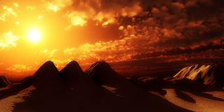 Sand Dunes With Sun 5 Stock Photo