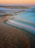 Sand dunes at sunrise Royalty Free Stock Photography