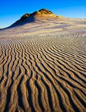 Sand dunes at sunrise Stock Images