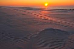 Sand dunes at sunrise Royalty Free Stock Image