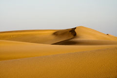 Sand dunes on the sunset Stock Photo