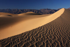 Sand dunes sunset. Sunset in the dunes casting long shadows in the sand (Death Valley national park, California, USA Stock Image