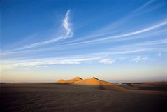 Sand Dunes at sunset Royalty Free Stock Photos